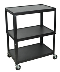 Luxor Adjustable Height Large Steel A/V Cart (Luxor LUX-AVJ42XL)