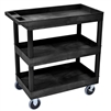 "Luxor E Series EC111HD - Tub Cart 3 Shelves HD Model -  35¼""W x 37¼""H (Luxor LUX-EC111HD)"