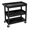 Luxor 18 x 32 Cart 2 Tub / 1 Flat Shelves (LUX-EC112-B)