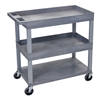 Luxor 18 x 32 Cart 2 Tub / 1 Flat Shelves (LUX-EC112-G)