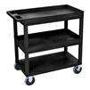 Luxor 18 x 32 Cart 2 Tub / 1 Flat Shelves (LUX-EC112HD-B)