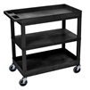 Luxor 18 x 32 Cart 2 Tub / 1 Flat Shelves (LUX-EC121-B)