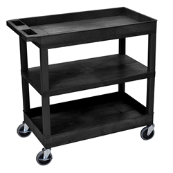 Luxor 18 x 32 Cart 2 Tub / 1 Flat Shelves (LUX-EC121HD-B)