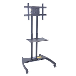 "Luxor FP2500 Series Adjustable Flat Panel Cart and Mount - 32"" - 60"" Height<br> (Luxor LUX-FP2500)"