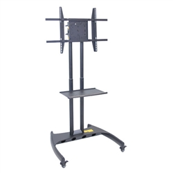 "Luxor FP3500 Series Adjustable Flat Panel Cart and Mount - 32"" - 60"" Height<br> (Luxor LUX-FP3500)"