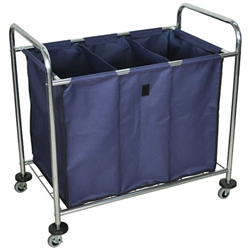 Luxor Industrial Laundry Cart With Dividers (Luxor LUX-HL15)