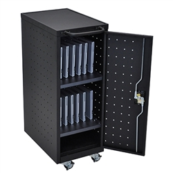 Luxor LLTP12-B-UPS 12 Chromebook Charging Cart Includes Electrical Outlets (Luxor LUX-LLTP12-B-UPS)