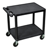 Luxor Adjustable AV Carts 2 Shelves (Luxor LUX-LP26E-B)