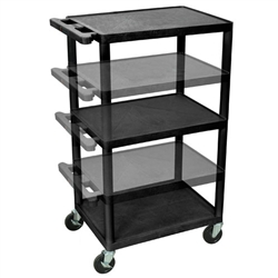 Luxor Multi Height AV Cart 3 Shelves (Luxor LUX-LPDUOE-B)