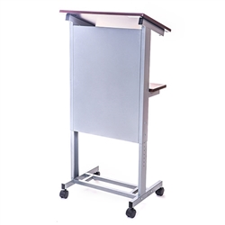Luxor Adjustable Height Lectern Podium Mobile Presentation Station(LUX-LX-ADJ-DW)