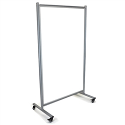 "LUX MD4072W Mobile Magnetic Whiteboard Room Divider - 43""W x 75""H (Luxor LUX-MD4072W)"