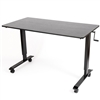 "Luxor STANDCF60-AG-BO - 60"" Crank Adjustable Stand Up Desk - Silver Frame with Black Oak Top"