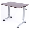 "Luxor STANDUP-CF48-DW - 48"" Crank Adjustable Stand Up Desk(LUX-STANDUP-CF48-DW)"