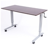 "Luxor STANDUP-CF60-DW - 60"" Crank Adjustable Stand Up Desk(LUX-STANDUP-CF60-DW)"