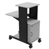 "H. Wilson WPS4C - 40"" Mobile Presentation Station with Cabinet (H. Wilson LUX-WPS4C)"