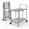 Luxor WSCC-2 - Two-Shelf Collapsible Wire Utility Cart (Luxor LUX-WSCC-2)
