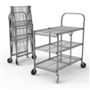 Luxor WSCC-3 - Three-Shelf Collapsible Wire Utility Cart (Luxor LUX-WSCC-3)
