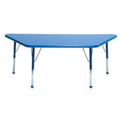 "Mahar Small Trapezoid Creative Colors Activity Table (24"" x 48"")  (Mahar MHR-2448T)"