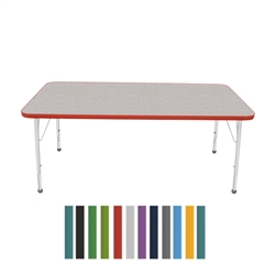 "Mahar Large Rectangle Creative Colors Activity Table (30"" x 60"")  (Mahar MHR- 3060)"