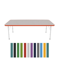 "Mahar Small Rectangle Creative Colors Activity Table (30"" x 72"")  (Mahar MHR-3072)"