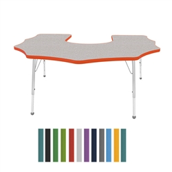 "Mahar Scalloped Horseshoe Creative Colors Activity Table (60"" x 66"")  (Mahar MHR-6066SH)"