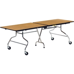 "Virco MT3096 - Mobile Cafeteria Table duofold, 30"" x 96"", black edge Banding  (Virco MT3096)"