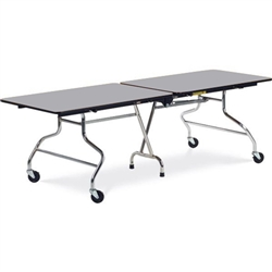 "Virco MT3096AE - Mobile Cafeteria Table duofold, 30"" x 96"", black edge Banding w/ Sure Edge  (Virco MT3096AE)"