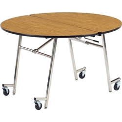 "Virco MT48R - Mobile Cafeteria Table contourfold, 48"" round, black edge Banding  (Virco MT48R)"