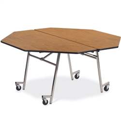"Virco MT60OCT - Mobile Cafeteria Table contourfold, 60"" octagon, black edge Banding  (Virco MT60OCT)"
