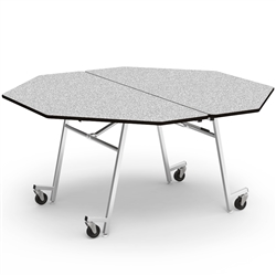 "Virco MT60OCTAE - Mobile Cafeteria Table contourfold, 60"" octagon, black edge Banding w/ Sure Edge  (Virco MT60OCTAE)"