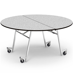 "Virco MT60RAE - Mobile Cafeteria Table contourfold, 60"" round, black edge Banding w/ Sure Edge  (Virco MT60RAE)"