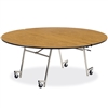 "Virco MT72R - Mobile Cafeteria Table contourfold, 72"" round, black edge Banding  (Virco MT72R)"