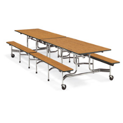 "Virco MTB15278 - Mobile Bench Cafeteria Table 15""H x 8""L Bench, 27""H x30""W x 8""L  (Virco MTB15278)"