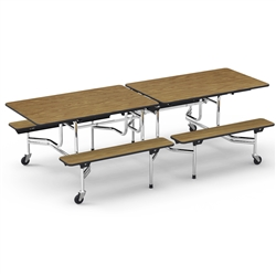 "Virco MTB17298 - Mobile Bench Cafeteria Table 17""H x 8""L Bench, 29""H x30""W x 8""L  (Virco MTB17298)"
