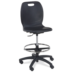 Virco N2 Series Height Adj. Mobile Lab Stool - XL Seat (Virco N260ELGCLS)