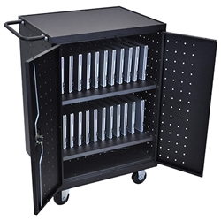 Luxor LLTP24-B 24 Laptop & Chromebook Charging Cart (Similar to NOR-GN01007-PK-SO)