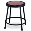 "NPS 18""H Black Stool with Hardboard Seat  (National Public Seating NPS-6218-10)"