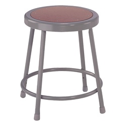 "NPS 18""H Stool with Hardboard Seat  (National Public Seating NPS-6218)"