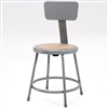 "NPS 18""H Stool with Hardboard Seat & Backrest  (National Public Seating NPS-6218B)"