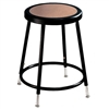 "NPS 19-27"" Black Adjustable Stool with Hardboard Seat  (National Public Seating NPS-6218H-10)"