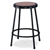 "NPS 24""H Black Stool with Hardboard Seat  (National Public Seating NPS-6224-10)"