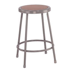"NPS 24""H Stool with Hardboard Seat  (National Public Seating NPS-6224)"