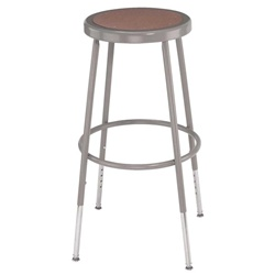 "NPS 31""-39"" H Adjustable Stool with Hardboard Seat  (National Public Seating NPS-6230H)"