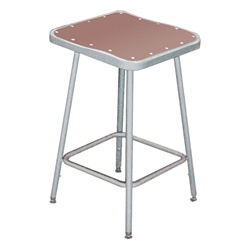 "NPS 24""H Square Stool with Hardboard Seat  (National Public Seating NPS-6324)"