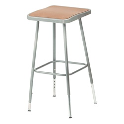 "NPS 25-33""H Adjustable Height Stool with Hardboard Seat  (National Public Seating NPS-6324H)"