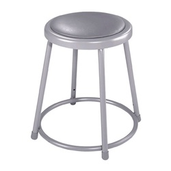 "NPS 18""H Stool with Padded Seat  (National Public Seating NPS-6418)"