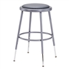 "NPS 19-27""H Adjustable Height Stool with Padded Seat  (National Public Seating NPS-6418H)"