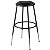 NPS 25-33 inches Adjustable Height Stool with Padded Seat  (National Public Seating NPS-6424H-10)