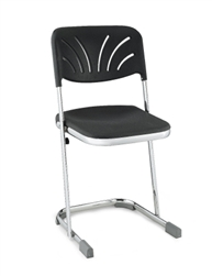 "NPS Elephant Z-stool 18""H Stool with Blow Molded Seat and Backrest  (National Public Seating NPS-6618B)"