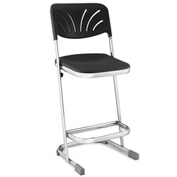 "NPS Elephant Z-stool 24""H Stool with Blow Molded Seat and Backrest  (National Public Seating NPS-6624B)"